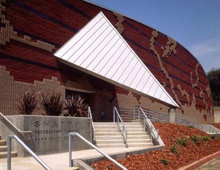 Exteriors- designs, designer façade, shatto recreation center, steven ehrlich architects, architecture
