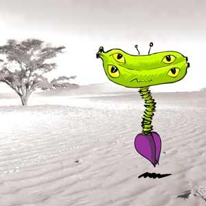 banana aliens-double, aliens, invasion, characters, biju neyyan