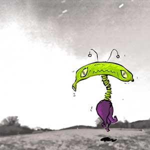 banana aliens - old, aliens, invasion, characters, biju neyyan