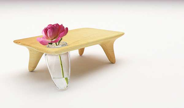 table with vase