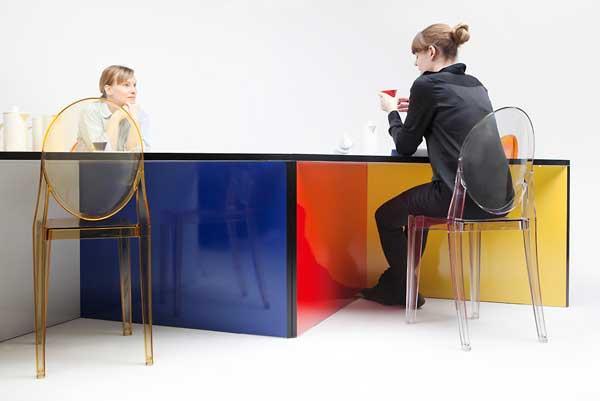 colourful nzela table