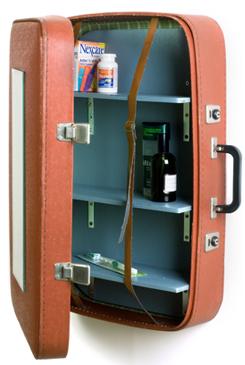 suitcase medical cupboard