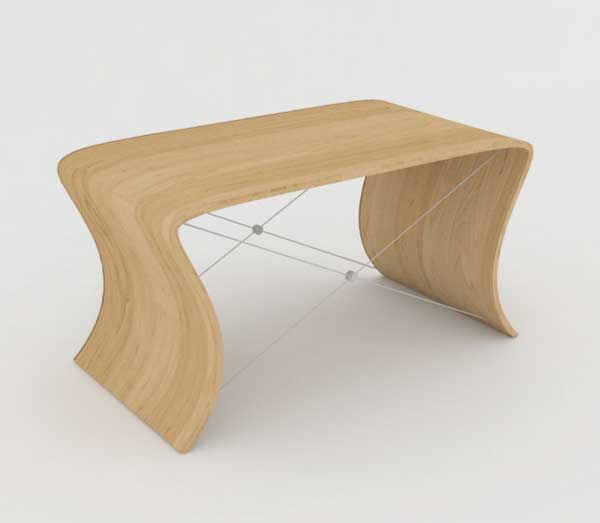 wave piano bench by Darshan Alatar