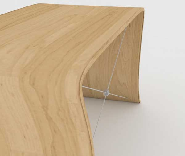 wave piano bench