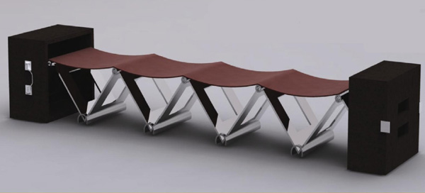foldable seating system