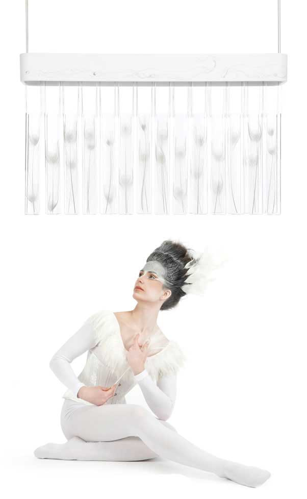 peacock love chandelier
