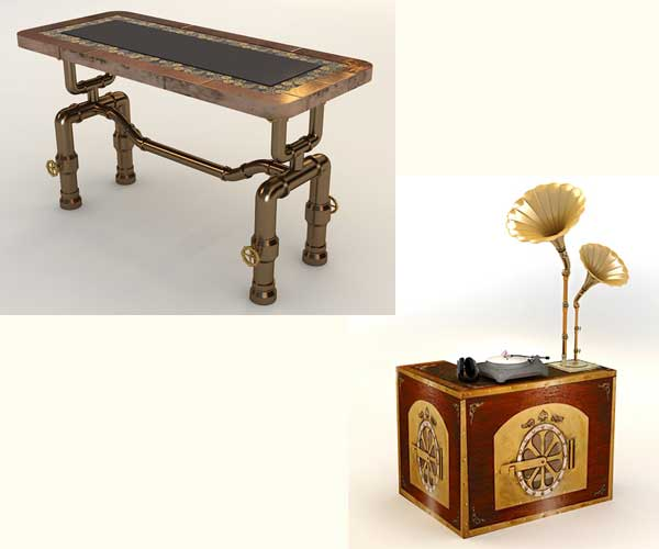 steampunk furniture by Abhishek majumder